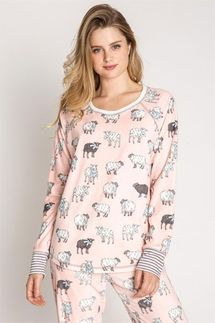 PJ Salvage That's What Sheep Said Velour Pajama Set