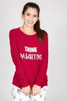 PJ Salvage Think Pawsitive Long Sleeve Top