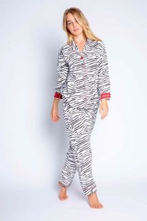 PJ Salvage Animal Print Flannel Pajama Set