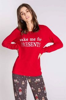 PJ Salvage Wake Me For Presents Long Sleeve Top