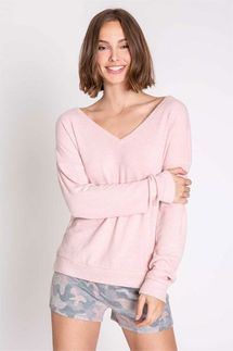PJ Salvage Weekend Love Long Sleeve Top