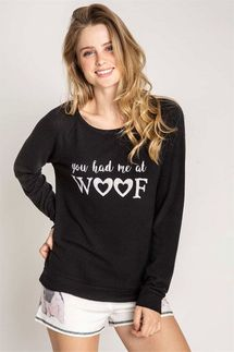 PJ Salvage You Had Me At Woof Long Sleeve Top
