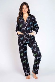 PJ Salvage Zebra Flannel Pajama Set