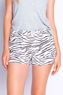 PJ Salvage Animal Print Flannel Short