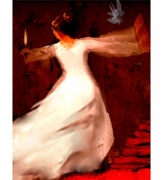 DANCE OF THE BRIDE. 8.5 X 11 PRINT (UNFRAMED)