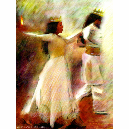 DANCE WITH THE KING OF KINGS. 8.5 X 11 ART PRINT