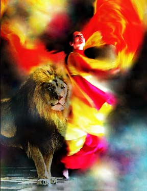 "Dance with the Lion of Judah! 8.5"" x 11"" Print"