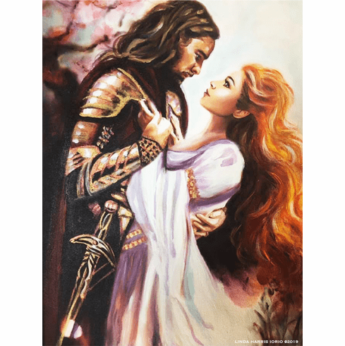 Dance with Your Knight in Shining Armor.  8.5 x 11 Art Print