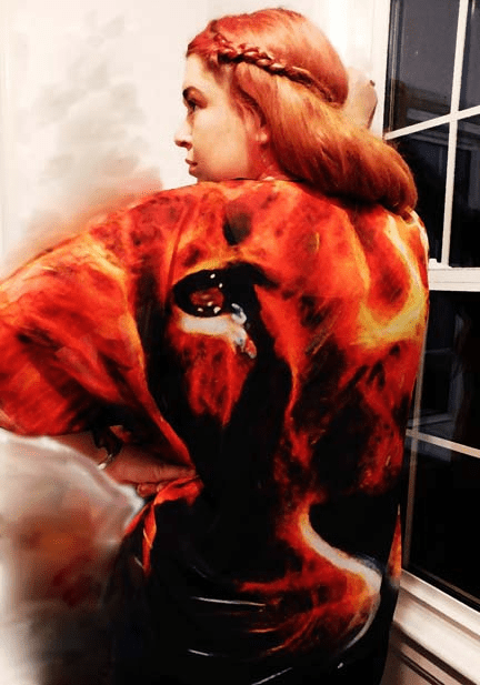 FIRE LION! Kimono. Only One! One size fits all