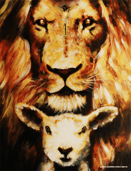 Jesus died for us the lamb and the Lion! Art Print