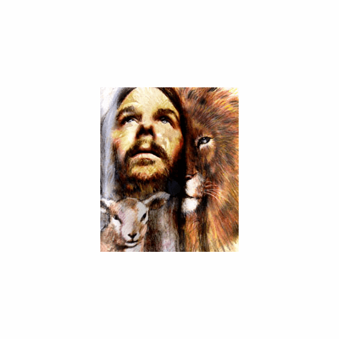 Jesus is the Lion and the Lamb. 8.5 X 11 PRINT
