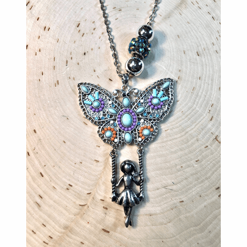 Just a Swing'n! Fly my little butterfly! Necklace