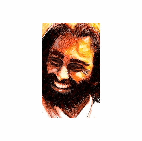 LAUGHING JESUS, MAN OF JOY. 8.5 X 11 PRINT