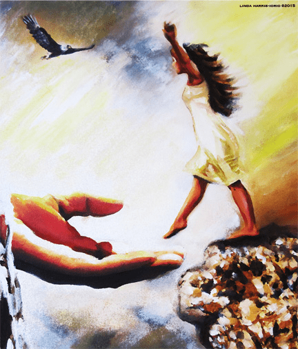 """Leap of Faith"" 8.5 x 11"" Art Print"