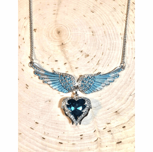 Living waters under the shadow of wings necklace