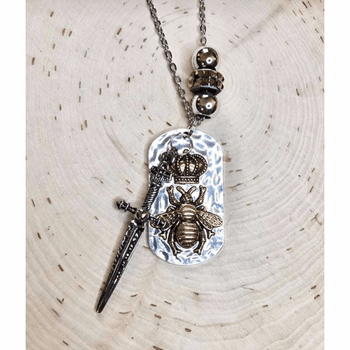 """You are His Queen Bee"" prophetic necklace!"