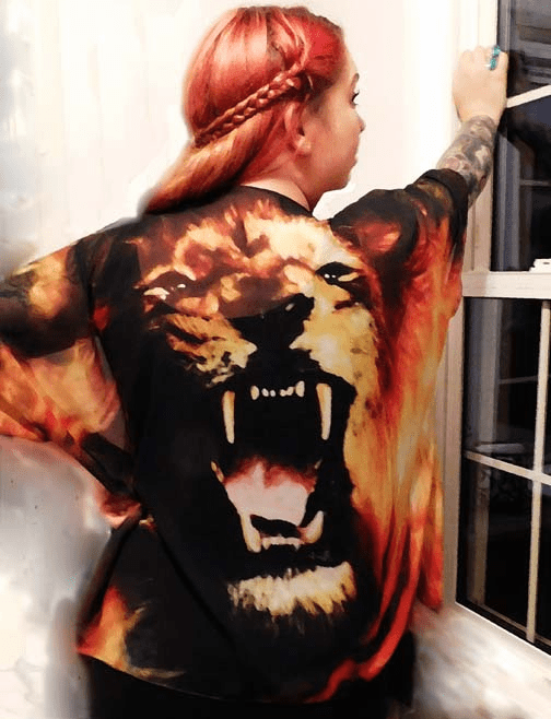 ROAR! Lion Praise Garment. Only 3. One size fits all