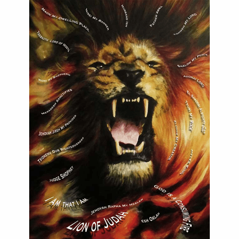 """ROAR"" WITH THE LION OF JUDAH. PRINT 8.5 X 11"