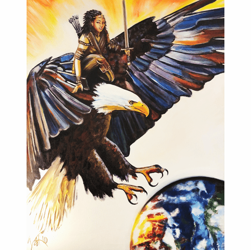 Take Flight on Eagles Wings! 8.5 x 11 Art Print