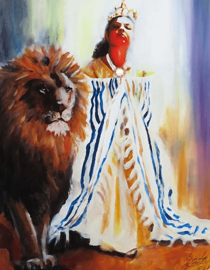 The Intercession of Esther and the Lion. Art Print