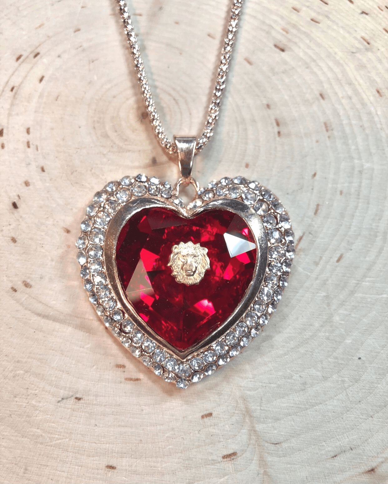 The Loving Heart of the Lion! Necklace