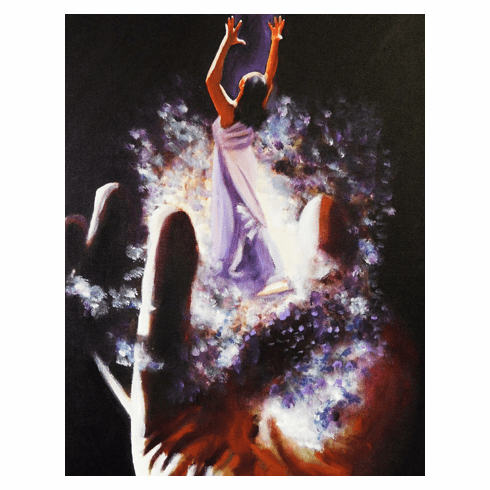 Touch Heaven. True Worship in the hand of God. Print
