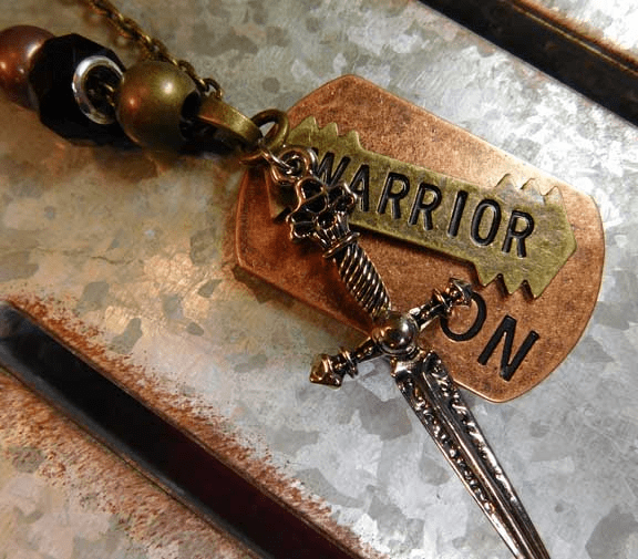 Warrior On unisex prophetic necklace