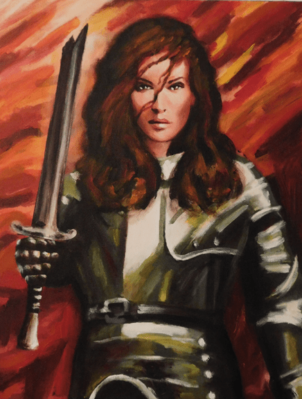 Warrior Princess on Fire for God! New Art Print