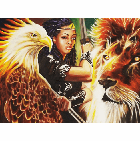 Warrior Queen. 14 x 11 Stretched CANVAS Print