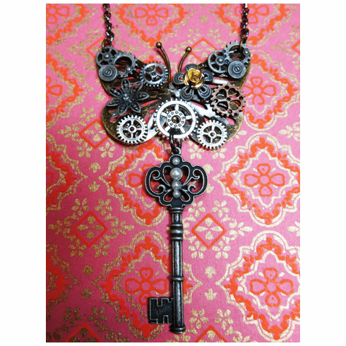 You hold the Key to Emerge Transformed. Prophetic necklace