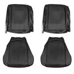 1964 Chevelle Front Bucket Seat Covers Black