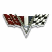 1965-1967 Chevelle Cross Flag Fender Emblem
