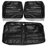 1965 EL CAMINO FRONT BENCH SEAT COVERS BLACK