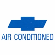 1966-1967 NOVA AIR CONDITIONING WINDOW DECAL