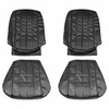 1966 EL CAMINO FRONT BUCKET SEAT COVERS BLUE TWO TONE
