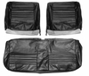 1967 EL CAMINO FRONT BENCH SEAT COVERS BLACK
