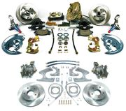 1968-1974 NOVA 4 WHEEL DISC BRAKE KIT 9 INCH BOOSTER ROUND MASTER FOR STAGGERED SHOCKS