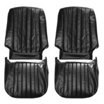 1968 EL CAMINO FRONT BUCKET SEAT COVERS RED