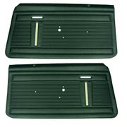 1969-1970 NOVA STANDARD FRONT DOOR PANELS DARK GREEN