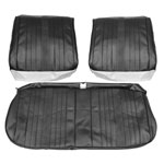 1969 EL CAMINO FRONT BENCH SEAT COVERS BLACK