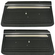1969 NOVA CUSTOM FRONT DOOR PANELS DARK METALLIC GREEN