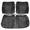 1970 EL CAMINO FRONT BENCH SEAT COVERS DARK METALLIC GREEN