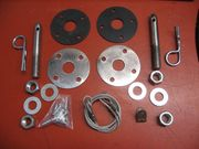 1970 TO 1972 CHEVELLE HOOD PIN KIT
