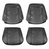 1971-1972 EL CAMINO FRONT BUCKET SEAT COVERS DARK SADDLE