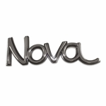 1973-1974 NOVA FENDER EMBLEM BLACK AND CHROME