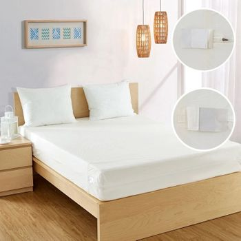 BedBug Solution Zippered 6 Gauge Vinyl Mattress & Box-Spring Covers - Heavy-Weight, Easy-Clean