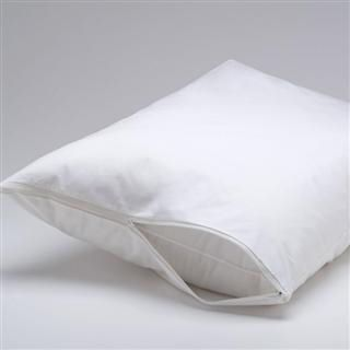 BedBug Solution Zippered 6 Gauge Vinyl Pillow Covers - Heavy-Weight, Easy-Clean