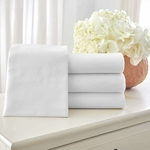 Five Star T-300 Hotel Cotton Fitted Sheets, Fresh White, 100% Combed Ring-Spun Cotton