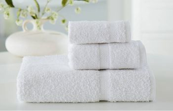 Hand Towels, Wellington Hospitality, 16x30, 4.5 lbs./dozen, 100% Cotton, Dobby Border, White