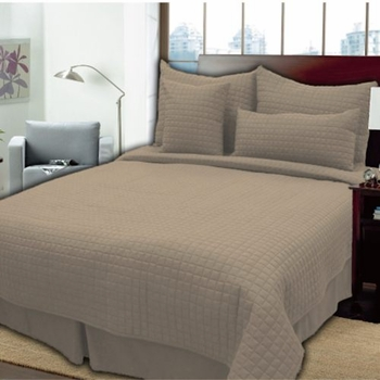 "King 4 Piece Coverlet Sets - Durable, Modern 1"" Box Quilting"